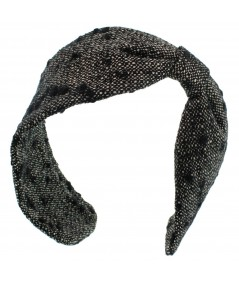 Wool Boucle Side Divot Earmuff for Women