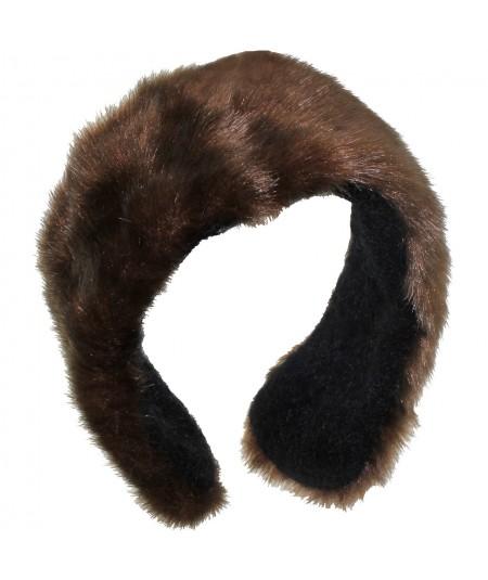 Earmuff Faux Fur - Brown