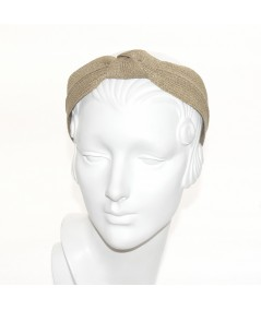 Sand Straw Center Wide Turban Headband