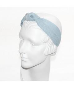 Sky Straw Center Wide Turban Headband