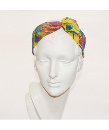 Silk Print Loop Headband
