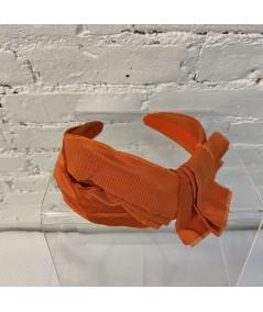 Orange Bengaline Frayed Turban Headband