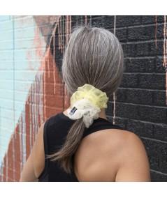 Ivory - Yellow Ponytail holder hair elastic scrunchie