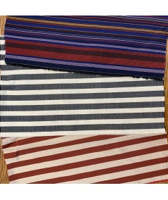 Dark Mullti - Charcoal/Cream - Beige/Burnt Cotton Stripe