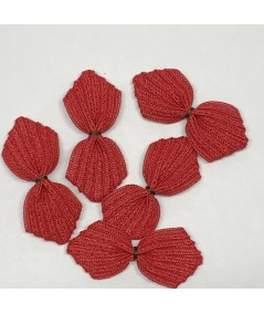 Red with Brown Stitch