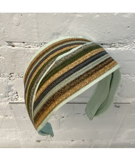 Straw Stripe Deco Headband