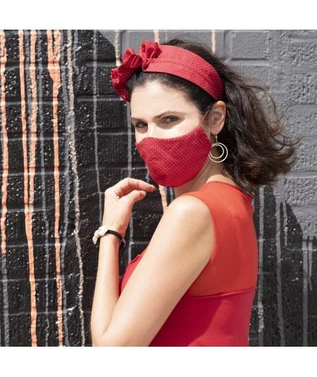 Navy Cotton Print Face Mask