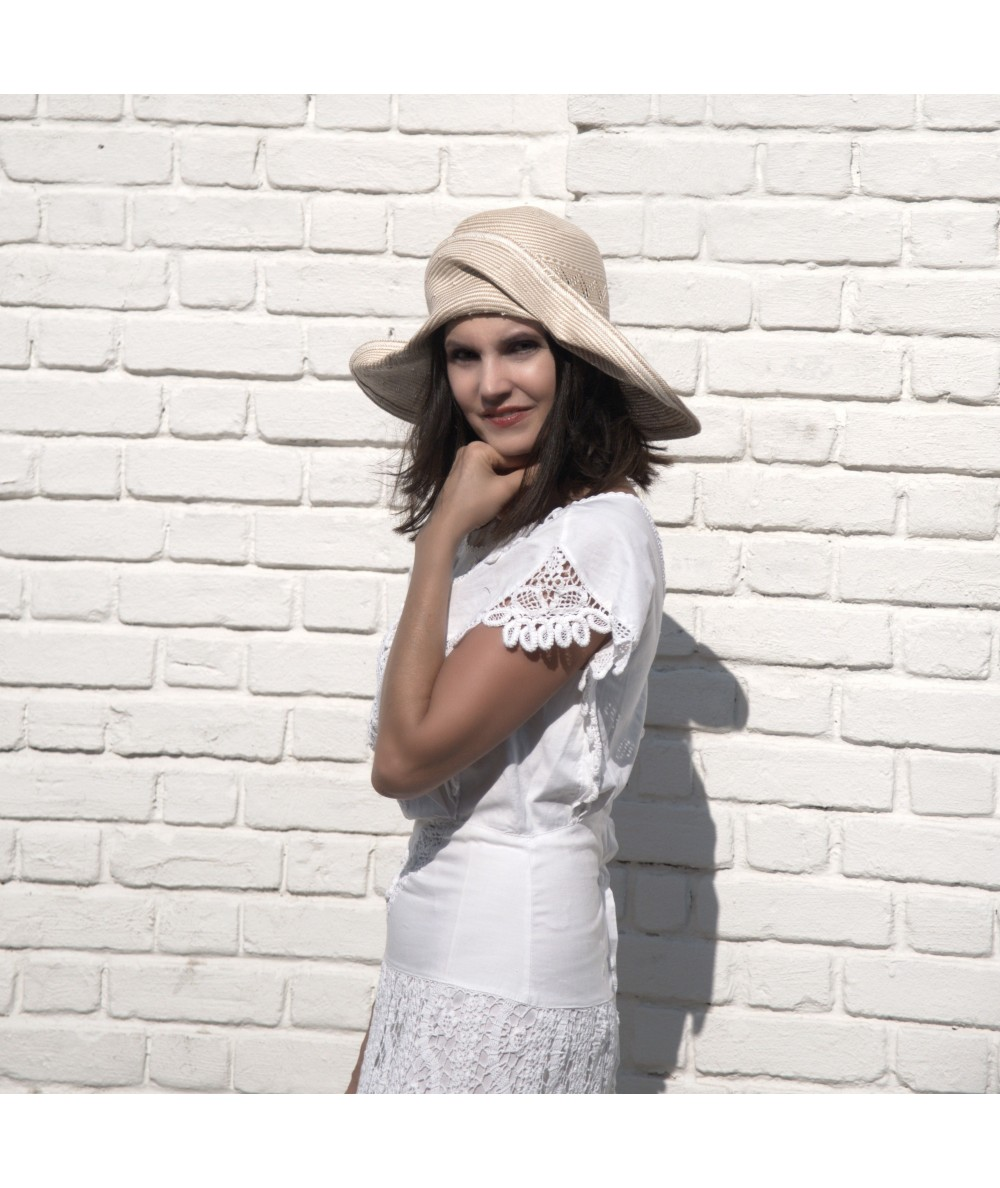 Wide Brim Italian Straw Sun Hat