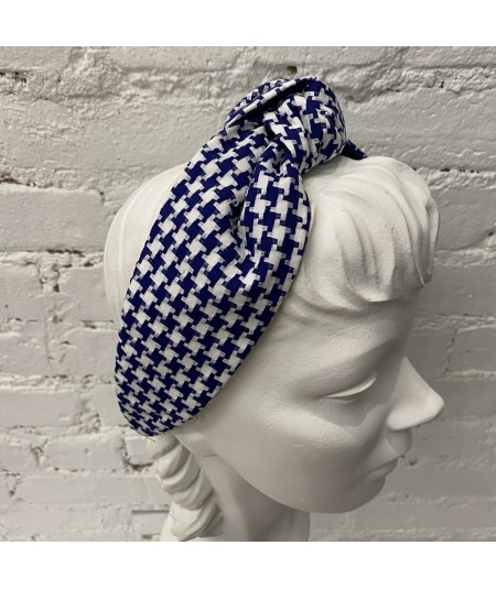 Royal Cotton Check Blair Headband