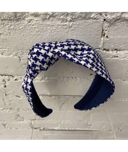 Royal Cotton Check Lana Headband