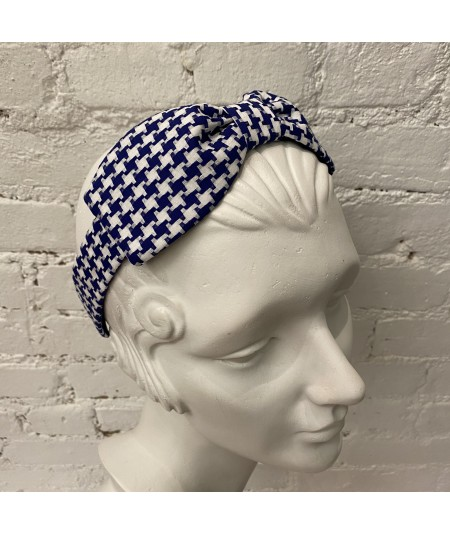 Royal Cotton Check Bow Headband
