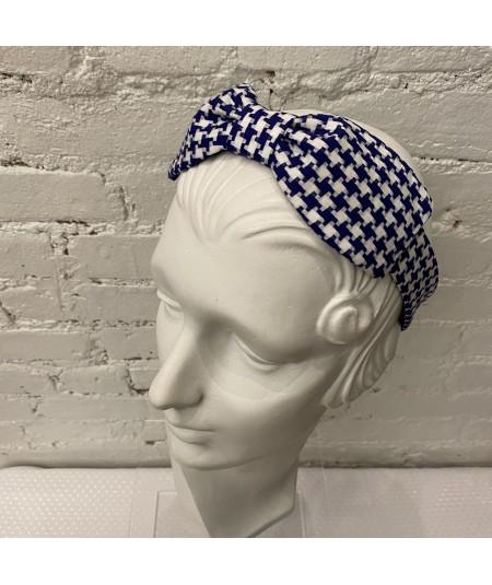 Royal Cotton Check Bow Headband
