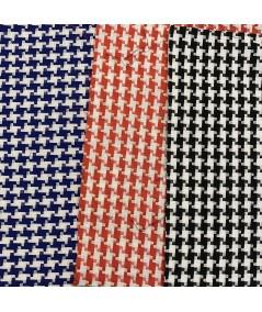 Royal - Red - Black Cotton Check