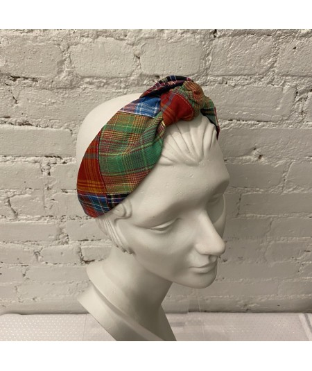 Multi Color Patchwork Cotton Blair Headband