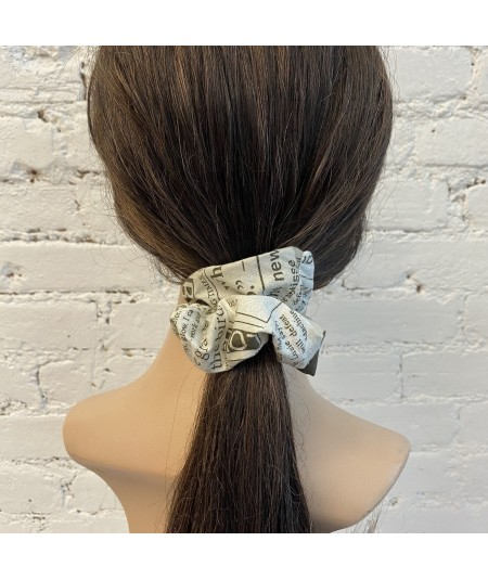 Newspaper Print Scrunchie