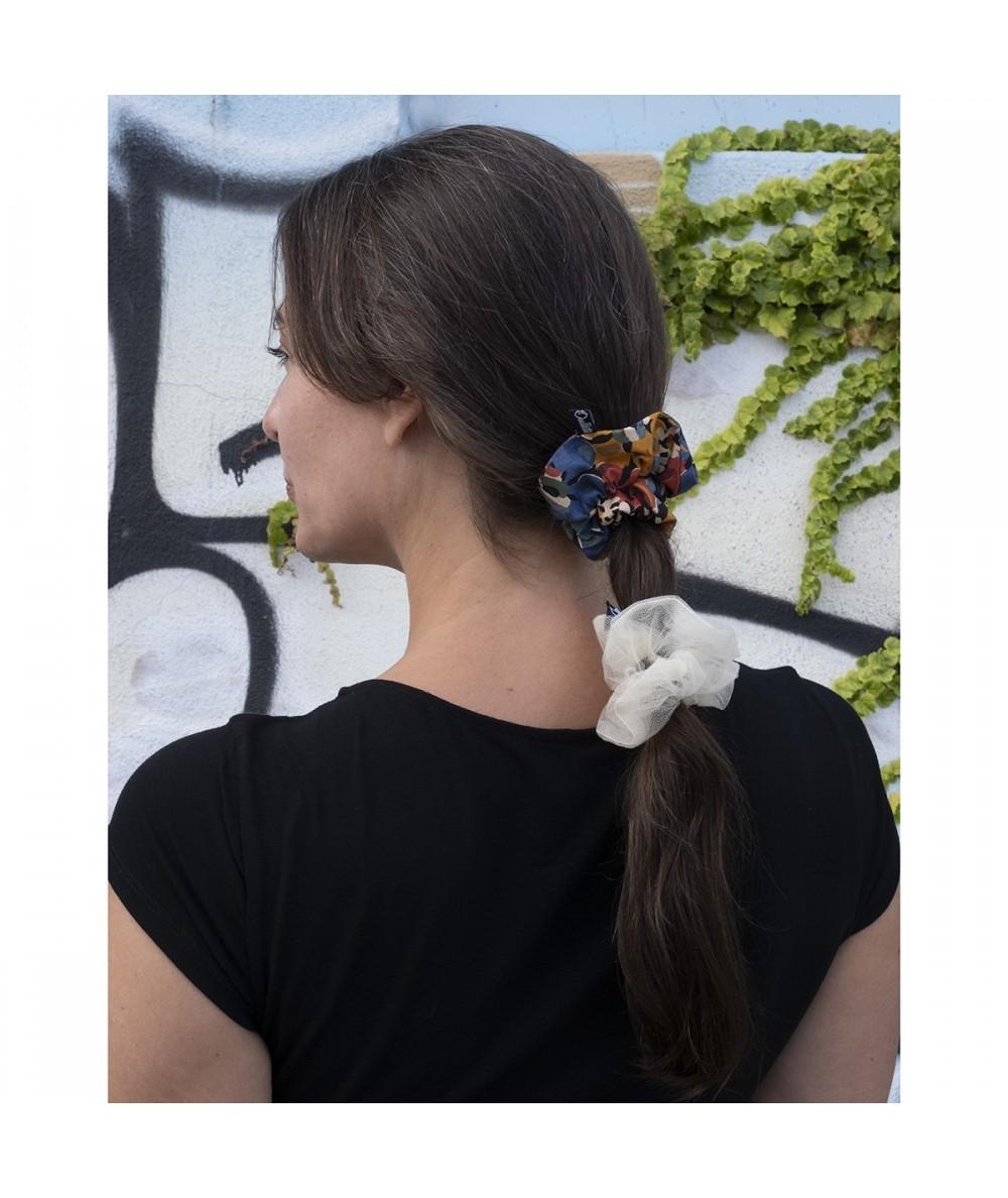 Ivory Ponytail holder hair elastic scrunchie - PY824 Liberty Print Scrunchie