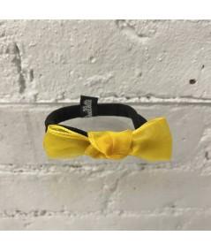 Yellow Organza Knot Ponytail Holder