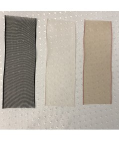 Black - Nude - Sable Organza Ribbon