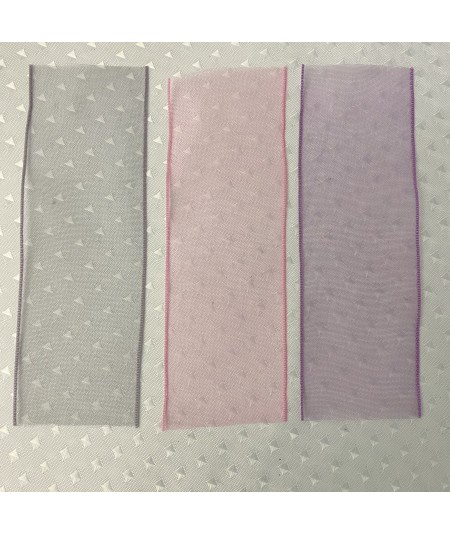 Grey - Pink - Violet Organza Ribbon