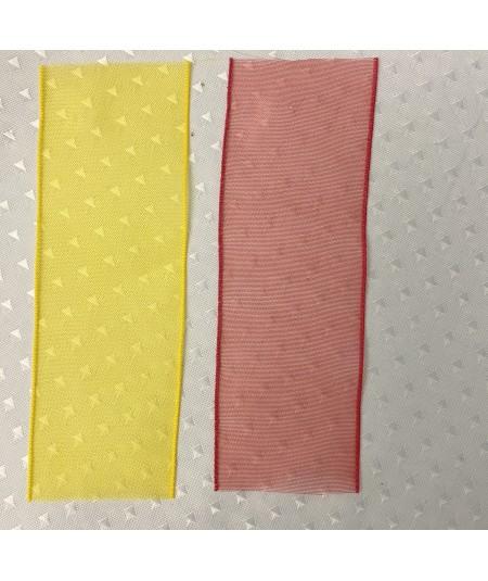 Yellow - Red Organza Ribbon