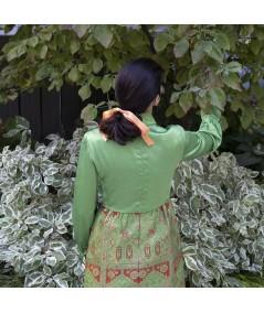 Melon Satin Large Bow Ponytail Holder