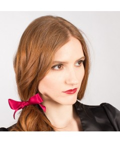 Rouge Satin Ribbon Bow Pony
