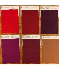 Red - Rouge - Mauve - New Magenta - Burgundy - Cocoa Satin Charmuese Options