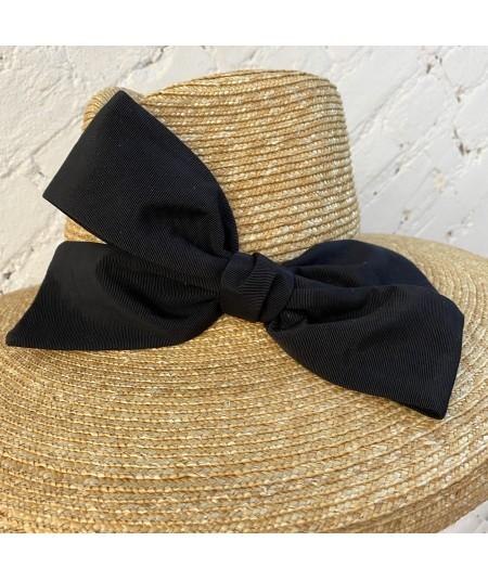 Soft Milan Straw Hat with Big Bow