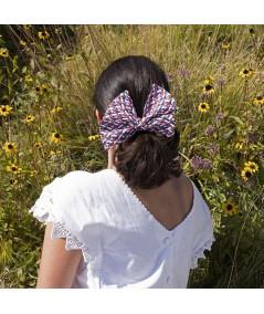RWB Raffia Bow Headband
