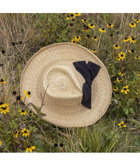 Soft Milan Straw Hat with Big Bow