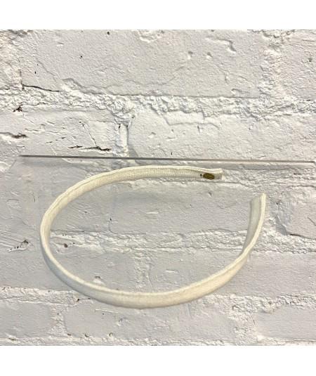Ivory Linen Skinny Headband
