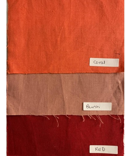 Coral - Blush - Red Linen