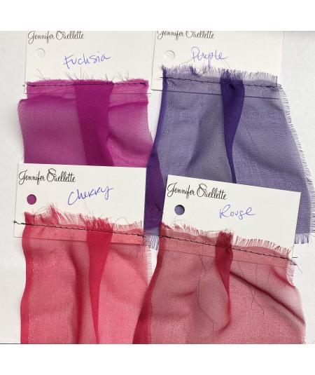 Fuchsia - Purple - Cherry - Rouge Silk Chiffon