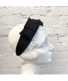 Black Bengaline Architectural Loop Headband