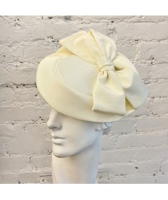 Ivory Bengaline with Bow Fascinator