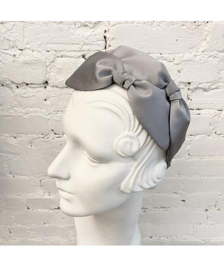Grey Palladium Headpiece with 3 Bows