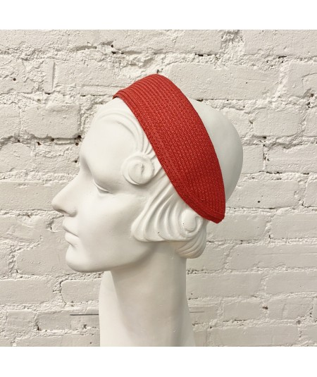 Red Straw Extra Wide Basic Headband