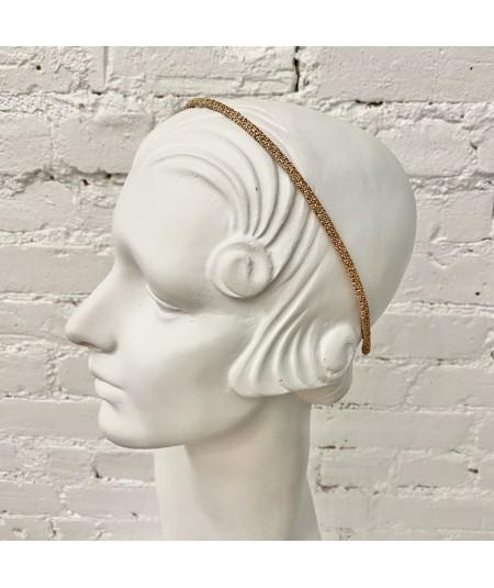 Wheat Skinny Toyo Straw Wrapped Headband