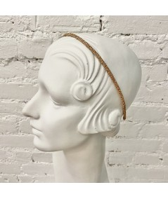 Wheat Skinny Toyo Straw Wrapped Headband