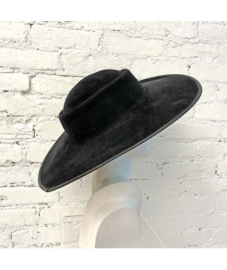 Black Dior-esque Wide Brim Hat