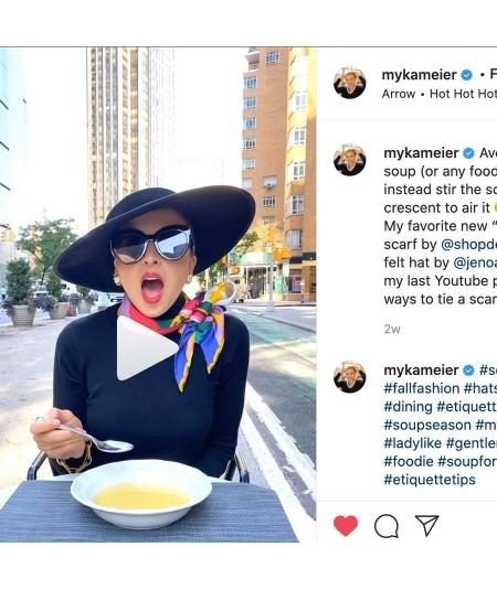 Myka Meiers wearing our Black Dior-esque Wide Brim Hat