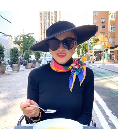 Black Dior-esque Wide Brim Hat