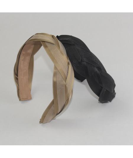 Black - Sable Horse Hair Braided Headband