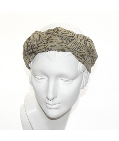 Silk Print Chunky Center Turban