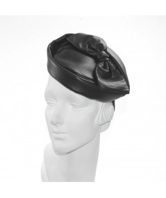Black Leather Betty Headpiece Fascinator
