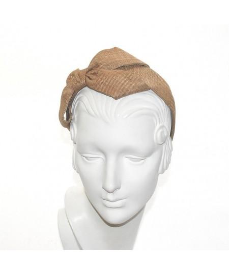 Wheat Italian Raffia Carolina Bow Headband