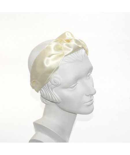 Cream Bridal Paramount Satin Turban