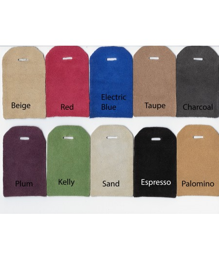 Beige - Red - Electric Blue - Taupe - Charcoal - Plum - Kelly - Sand - Espresso - Palomino Suede