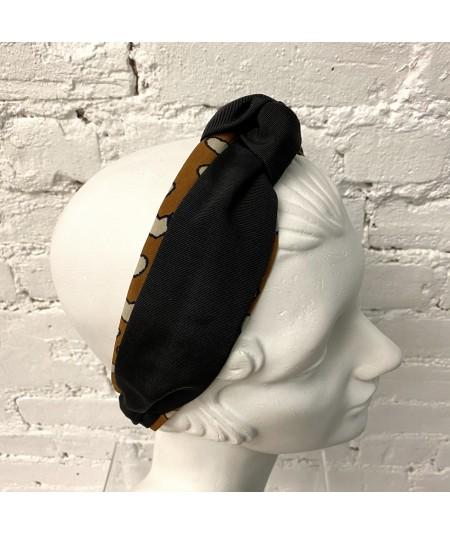 Hearts Print Center Turban Headband