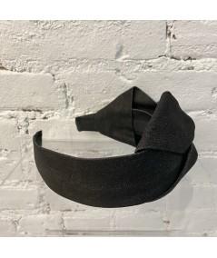 Black Denim Side Bow Headband